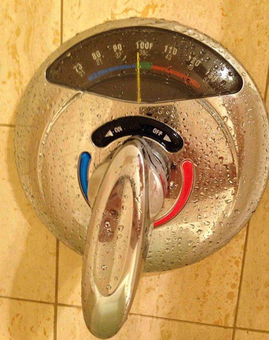 termómetro de ducha