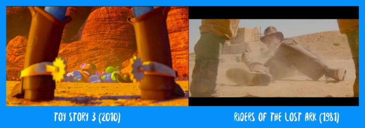 escena comparaticva entre toy story e indiana jones