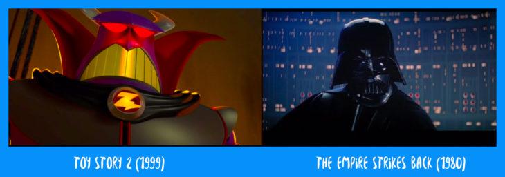escena comparativa entre toy story y star wars donde dice yo soy tu padre