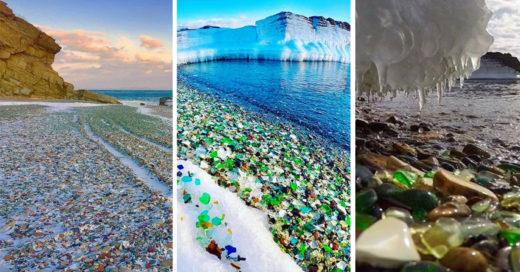 Cover Piedras de colores adornando una playa en Rusia