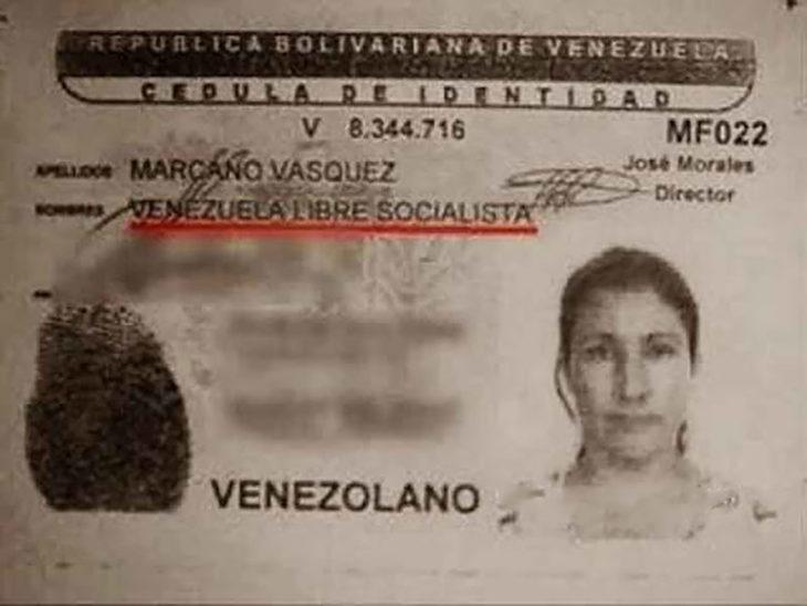 identificación de persona llamada veneuzela libre socialista