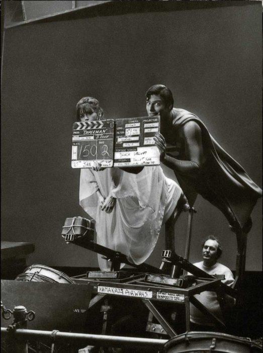 detrás de escenas de como hacían que volara superman