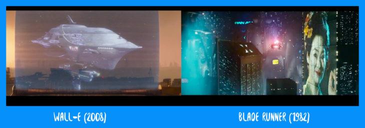 escena comparativa entre wall-e y blade runner