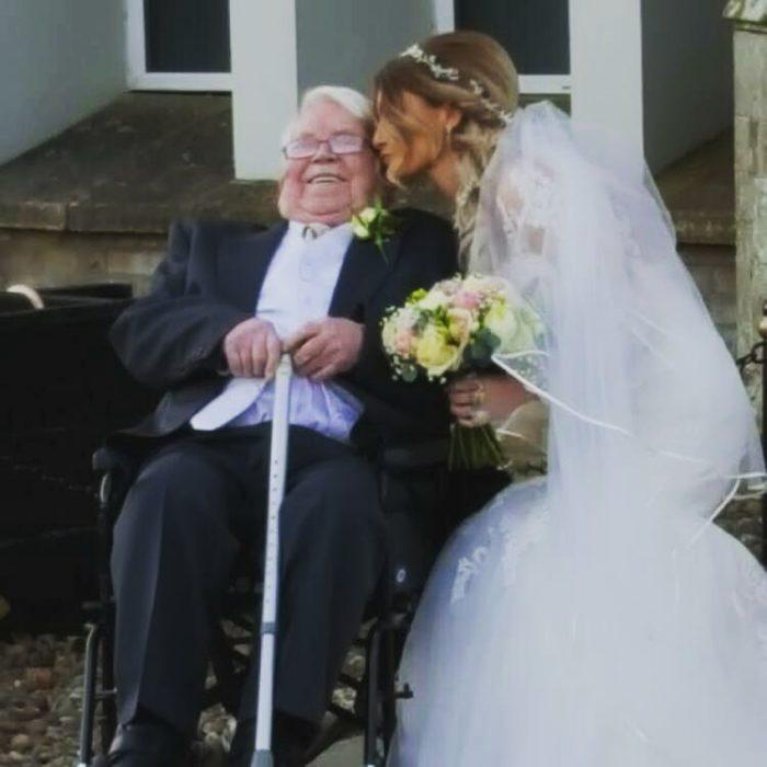 abuelo nieta boda