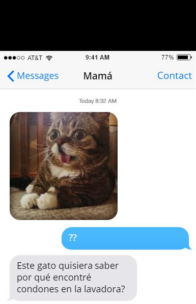 condones mensajes mamá