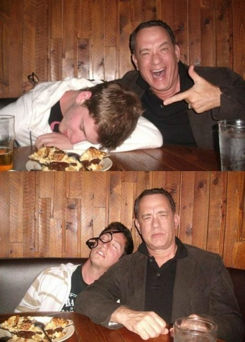 tom hanks selfie con borracho