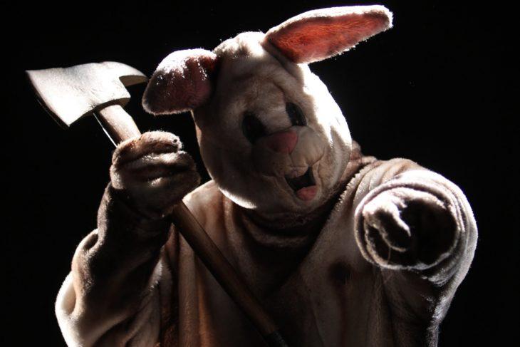 conejo maldito conejo de pascua terrorífico vintage