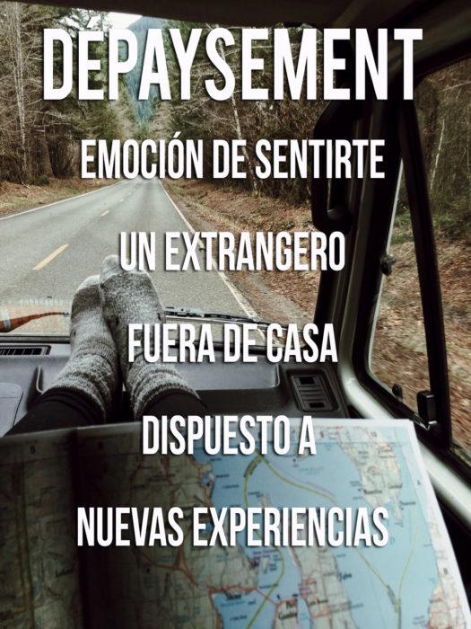 Imagen que explica el significado de la palabra Dépaysement