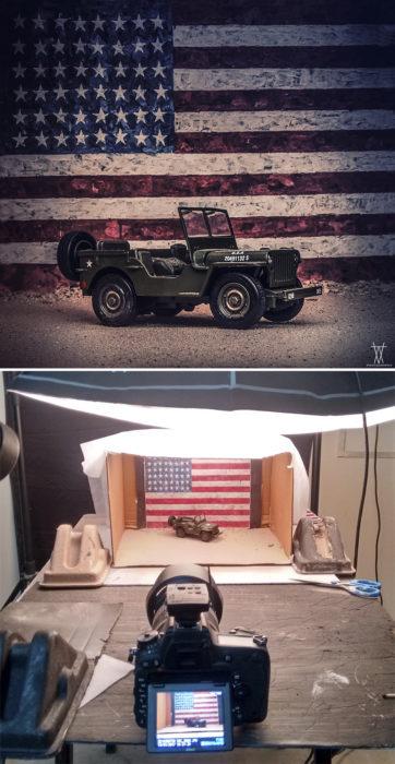 Montaje, jeep ejercito EEUU miniatura