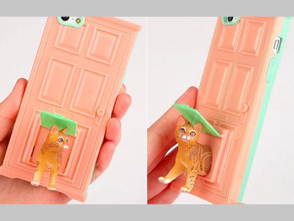 carcasa iphone puerta gato