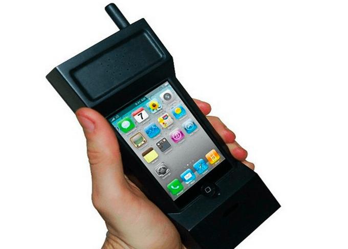 carcasa iphone celular viejo