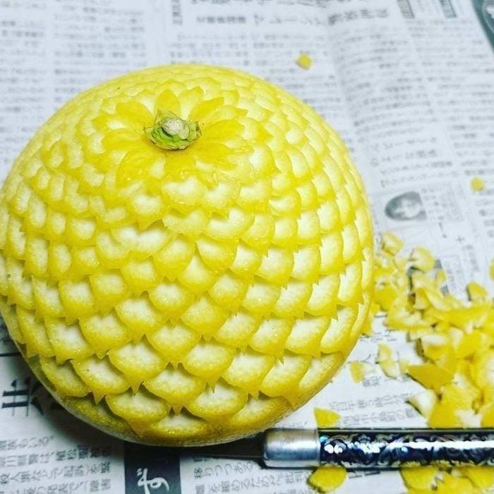 fruta tallada tendencia