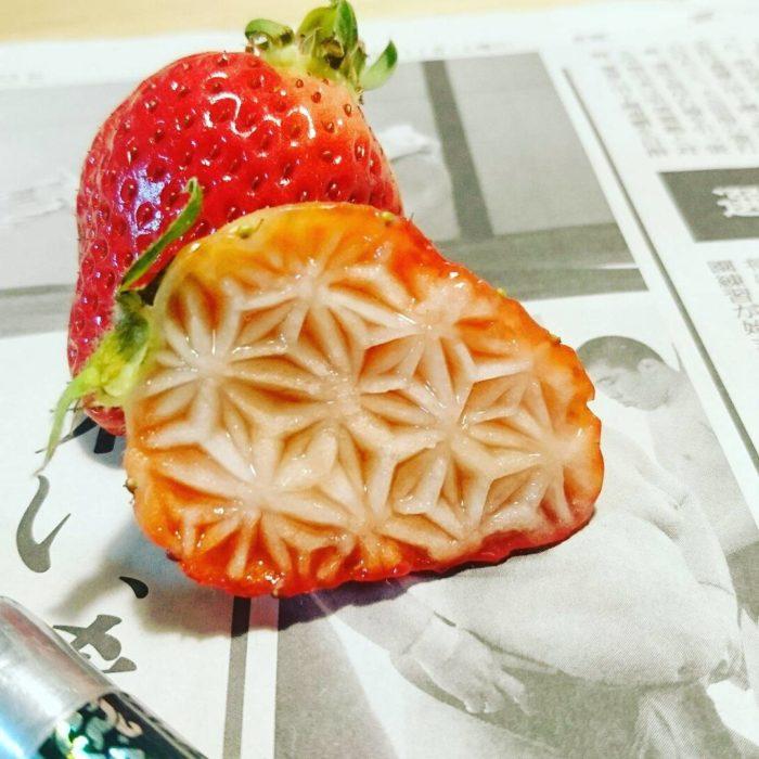 interior de una fresa tallada
