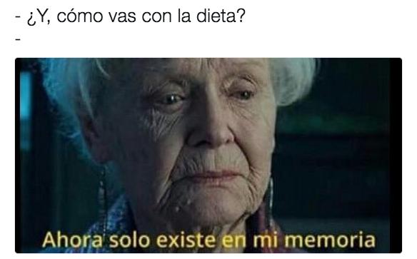 Meme dieta - cómo vas con la dieta?
