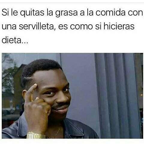 Meme dieta - quitar grasa con servilleta