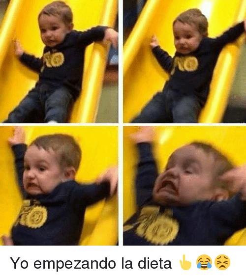Meme dieta - yo empezando la dieta