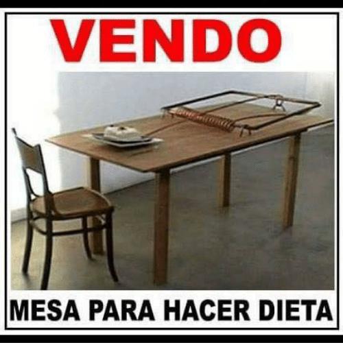 Meme dieta - mesa para hacer dieta