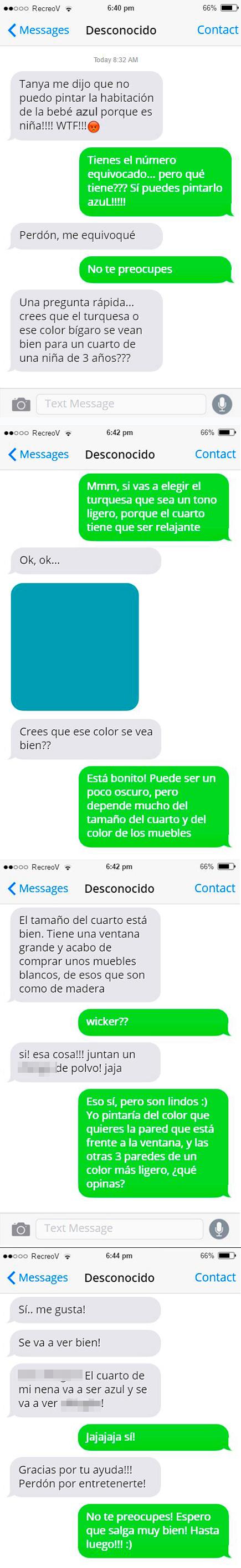 Mensajes equivocados - cuarto color turquesa
