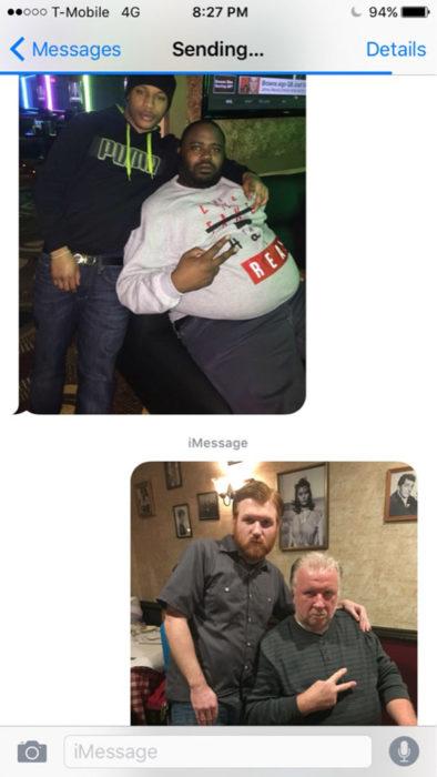 Mensajes equivocados - selfies