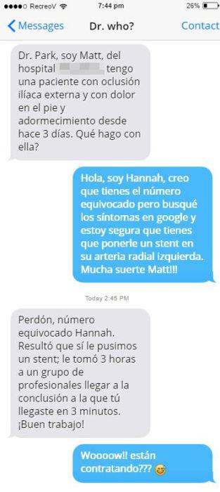 Mensajes equivocados - Hannah doctora google