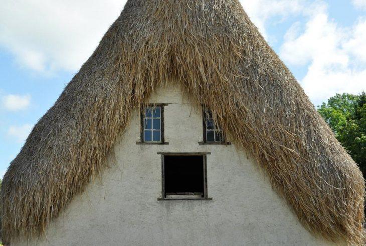 casa con paja