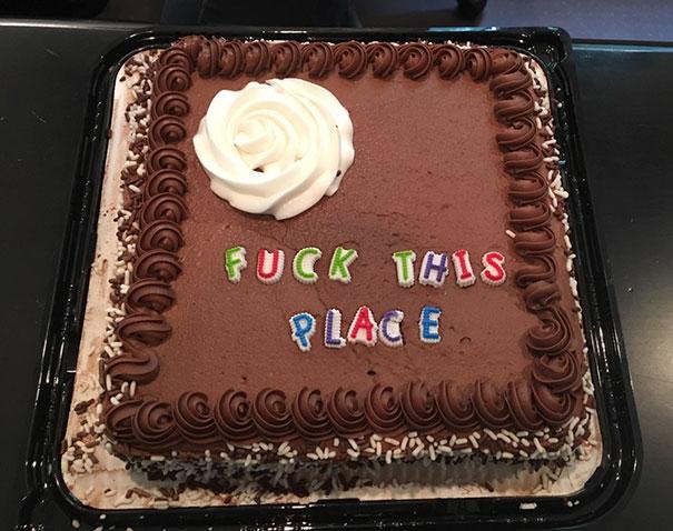 al carajo este lugar pastel