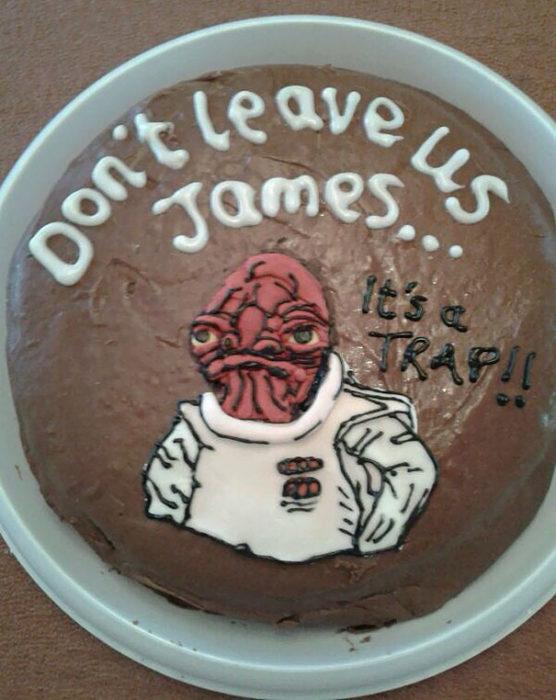 es una trampa no nos dejes pastel