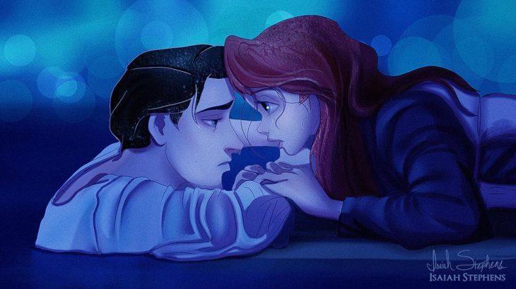ariel y eric escena titanic ella en la puerta y el congelado