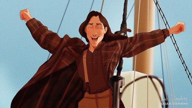 tarzan escena de titanic, rey del mundo