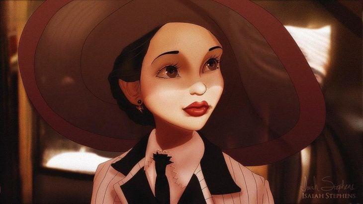 blancanieves escena del titanic rose con sombrero