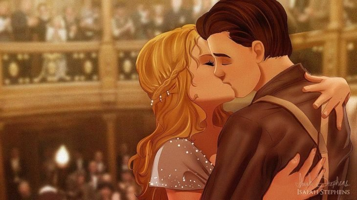cenicienta escena del titanic beso
