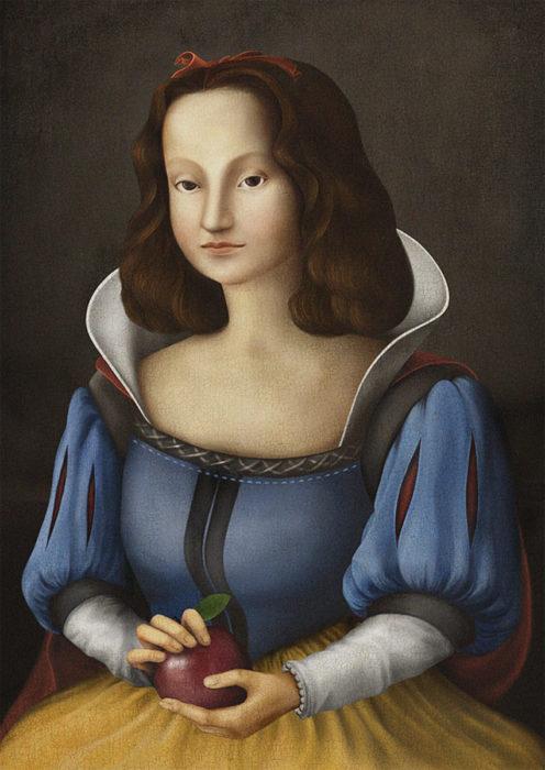 retrato renacentista princesa de 7 enanos