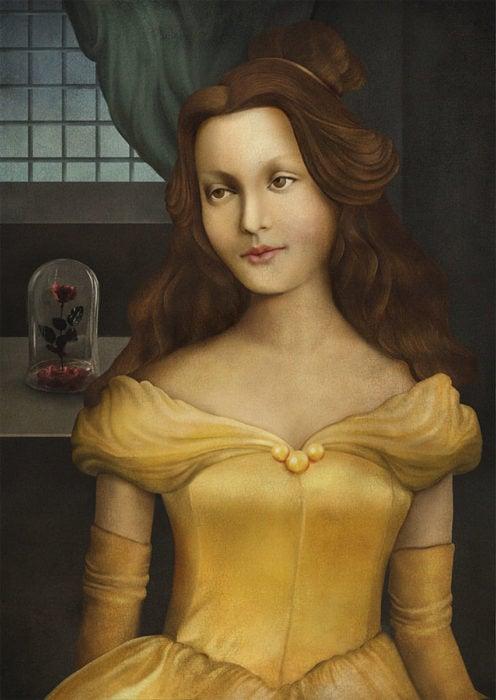 retrato renacentista princesa que le gusta leer