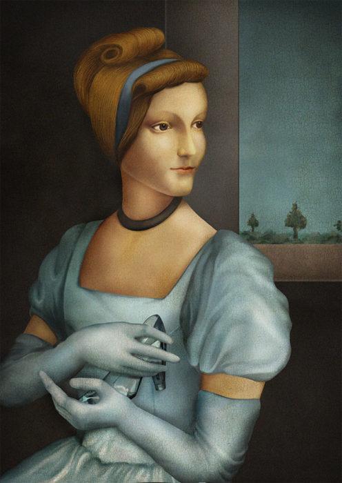 retrato renacentista princesa que pierde zapato