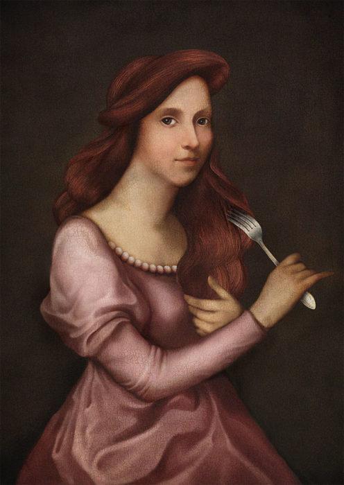 retrato renacentista princesa de l mar