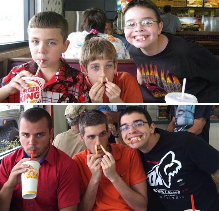 tres hermanos en burger king antes y ahora