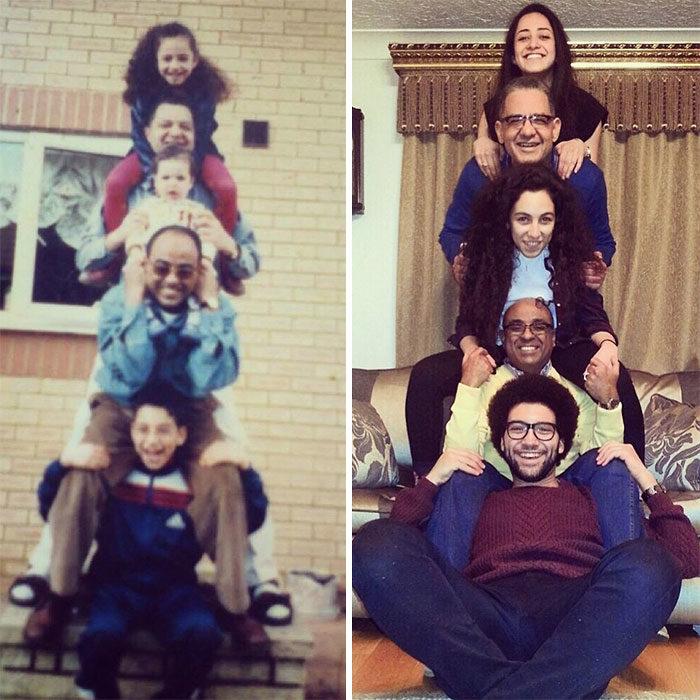 familia en pirámide antes y ahora