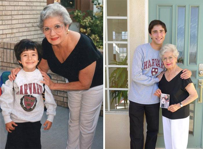 abuela y nieto fotos antes y después