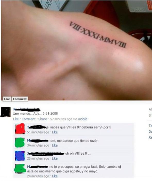 Fails tatuajes - 8 o 5