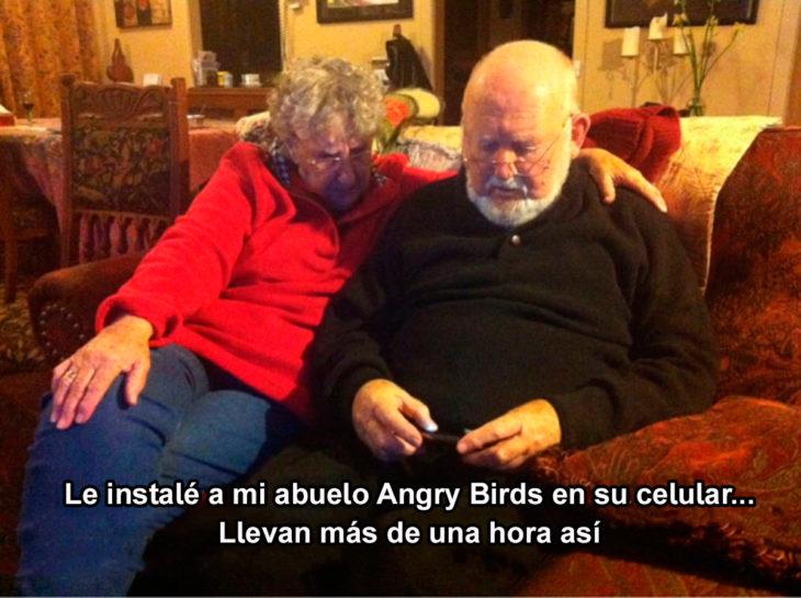 Abuelos vs tecnología - angry birds