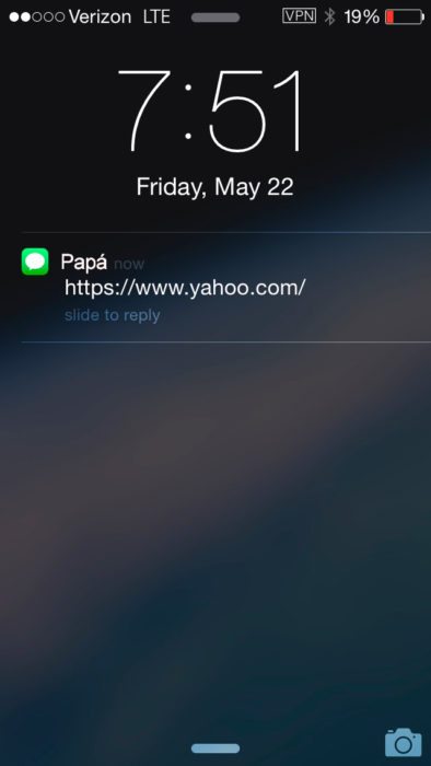 Abuelos vs tecnología - papa url mensaje