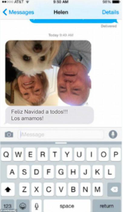 Abuelos vs tecnología - mensaje al revés