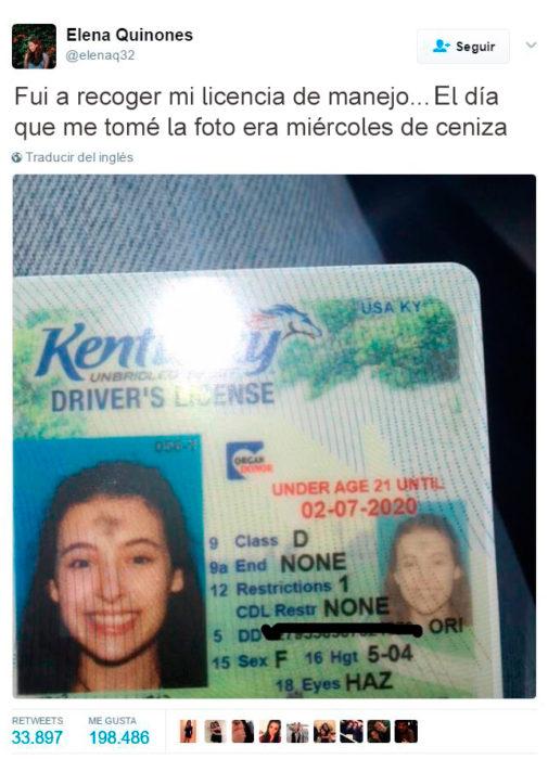Errores - licencia de conducir miércoles de ceniza