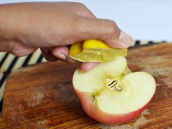 jugo de limón para manzana