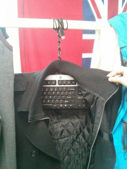 teclado como gancho