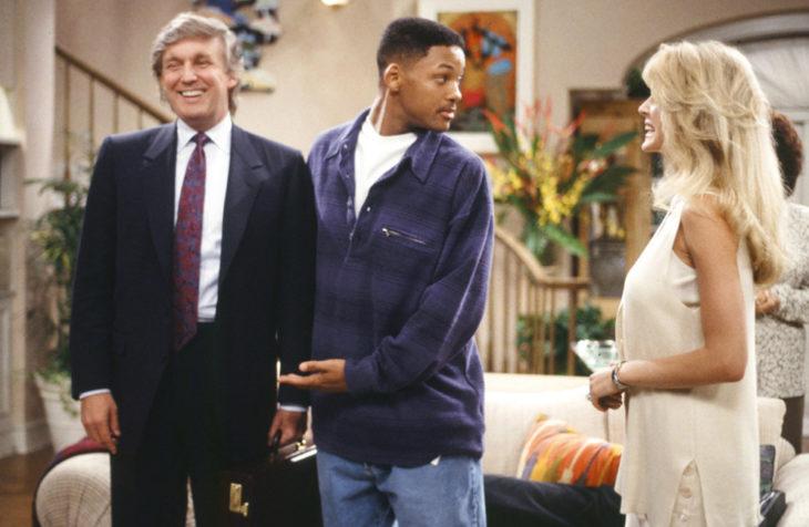 Trump con el príncipe del rap 1994