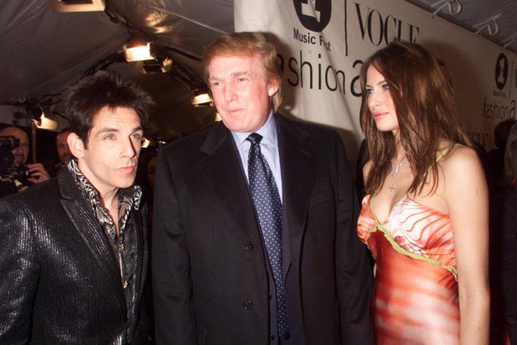 Trump y Melania conversando con Zoolander