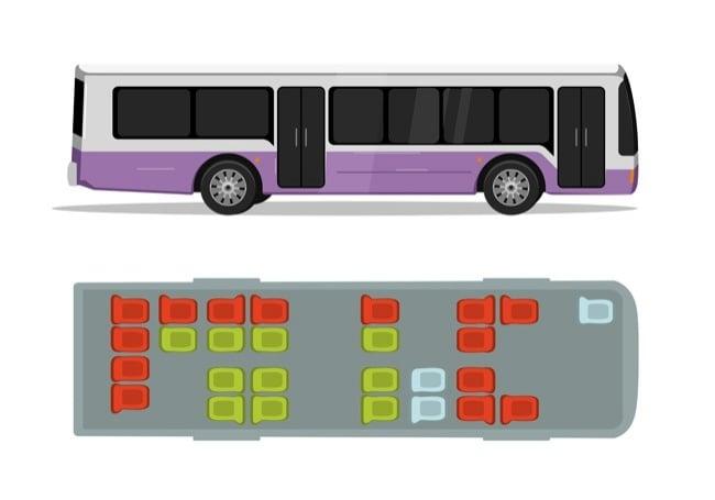 autobús camión asientos seguros