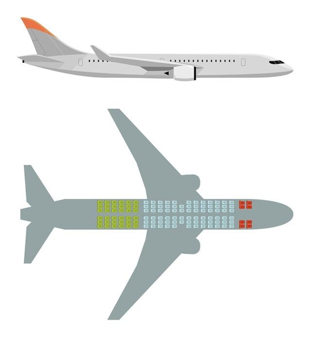 avión asientos seguros y peligrosos