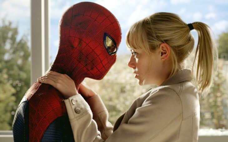 spiderman y emma stone